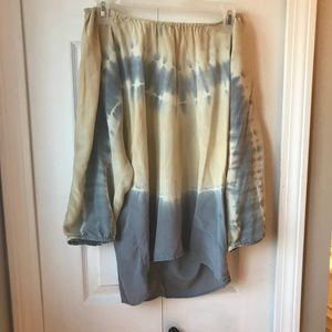 Club Monaco Tie Dye Off the Shoulder Top